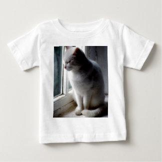 Camiseta Para Bebê Branco no branco