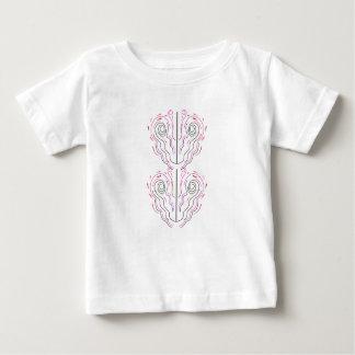 Camiseta Para Bebê Branco pintado à mão maravilhoso do preto dos