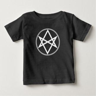 Camiseta Para Bebê Branco Unicursal do Hexagram de Falln