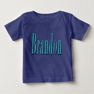 Camiseta Para Bebê Brandon, nome, logotipo azul,