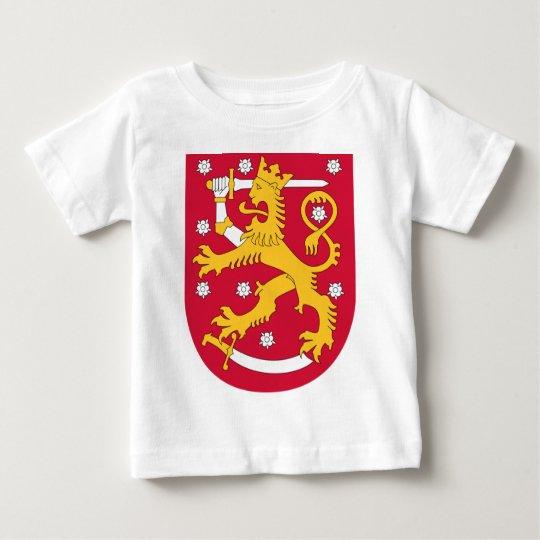 Camiseta Para Bebê Brasão de Finlandia - Suomen Vaakuna