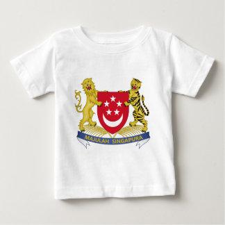 Camiseta Para Bebê Brasão do emblema do 新加坡国徽 de Singapore