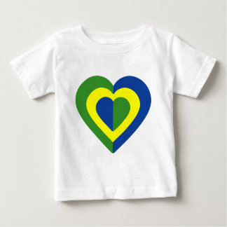 Camiseta Para Bebê brasile-heart-2.