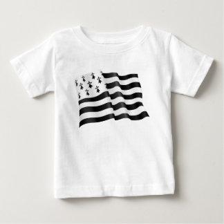 Camiseta Para Bebê Bretão de Drapeau (bandeira bretão)