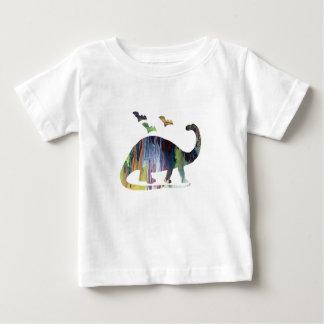 Camiseta Para Bebê Brontosaurus e bastões