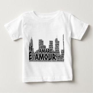 Camiseta Para Bebê Brooklyn New York ilustrada com palavra do amor