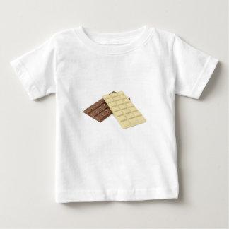 Camiseta Para Bebê Brown e bares de chocolate brancos