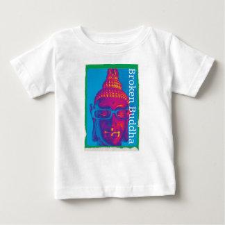 Camiseta Para Bebê Buddha quebrado