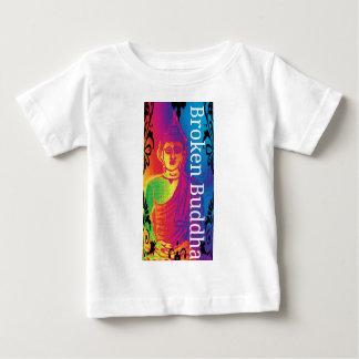 Camiseta Para Bebê Buddha quebrado de néon