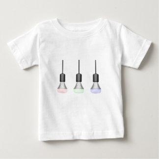 Camiseta Para Bebê Bulbos do diodo emissor de luz com cores