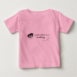 Camiseta Para Bebê buldogue