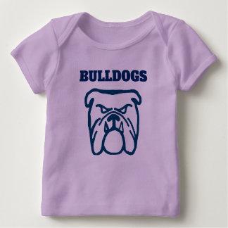 Camiseta Para Bebê Buldogue azul