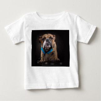 Camiseta Para Bebê buldogue DJ - o DJ persegue