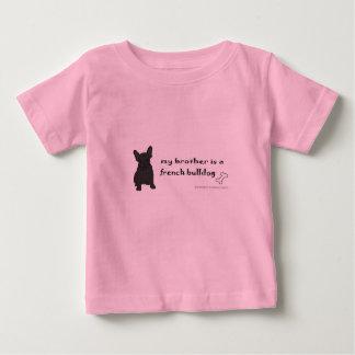 Camiseta Para Bebê buldogue francês