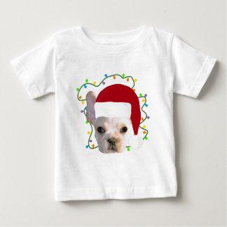 Camiseta Para Bebê Buldogue francês do Natal