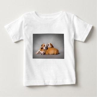 Camiseta Para Bebê Buldogue inglês do sono