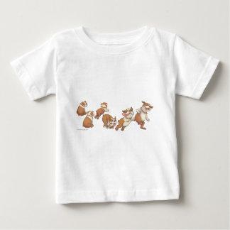 Camiseta Para Bebê buldogues horizontais