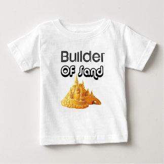 Camiseta Para Bebê Bulider de castelos da areia