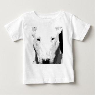 Camiseta Para Bebê Bull terrier preto e branco