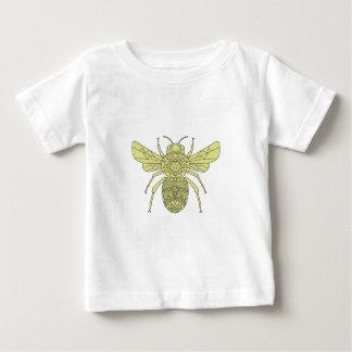 Camiseta Para Bebê Bumble a mandala da abelha
