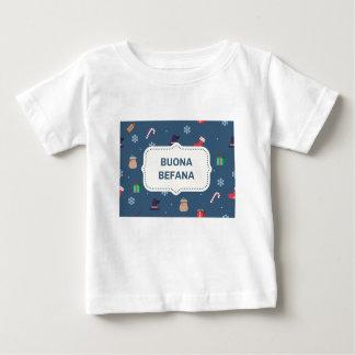 Camiseta Para Bebê buona Befana do xmas