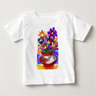 Camiseta Para Bebê Buquê 2017 da flor da modificação Digital