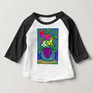 Camiseta Para Bebê Buquê da flor da modificação quando Im que sentem