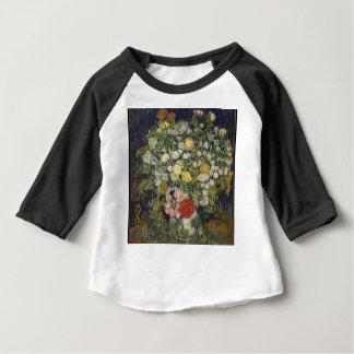 Camiseta Para Bebê Buquê das flores em um vaso