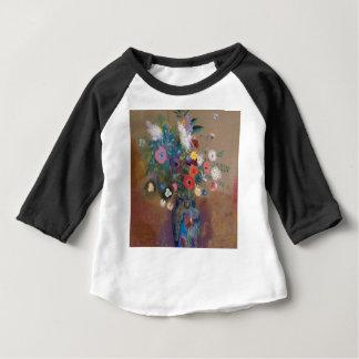 Camiseta Para Bebê Buquê das flores - Odilon Redon