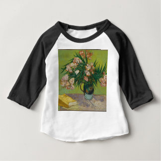 Camiseta Para Bebê Buquê de flores cor-de-rosa no vaso