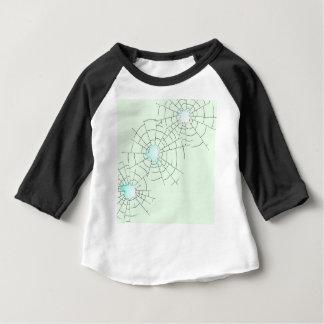 Camiseta Para Bebê Buracos de bala no vidro