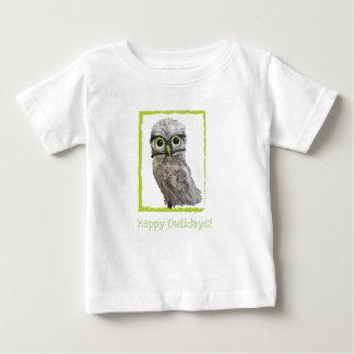 Camiseta Para Bebê Burrowing o feriado da coruja