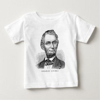 Camiseta Para Bebê Busto de Abe Lincoln do vintage