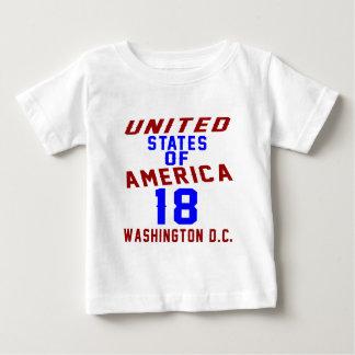 Camiseta Para Bebê C.C. de Washington dos Estados Unidos da América