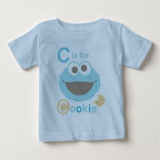 Camiseta Para Bebê C é para o biscoito