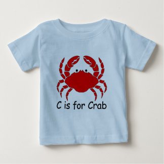 Camiseta Para Bebê C é para o caranguejo