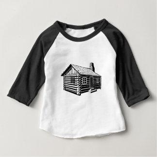 Camiseta Para Bebê Cabana rústica de madeira