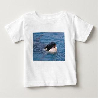 Camiseta Para Bebê Cabeça da baleia de assassino