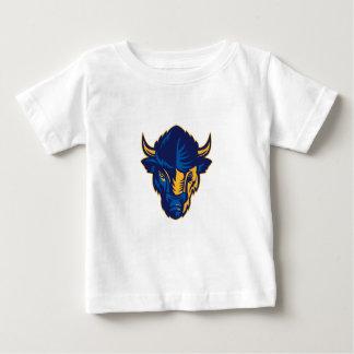 Camiseta Para Bebê Cabeça do bisonte americano retro