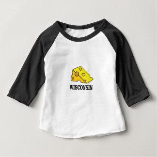 Camiseta Para Bebê Cabeça do queijo de Wisconsin