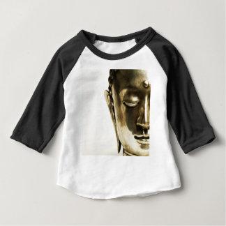 Camiseta Para Bebê Cabeça dourada de Buddha