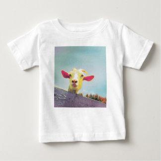 Camiseta Para Bebê cabra Cor-de-rosa-orelhuda