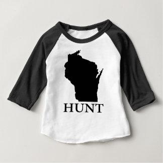Camiseta Para Bebê Caça Wisconsin