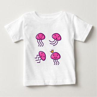 Camiseta Para Bebê Caçoa o rosa dos polvo