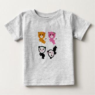 Camiseta Para Bebê Caçoa tigres das pandas do thirt