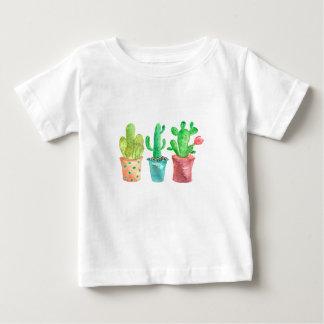 Camiseta Para Bebê Cacto da aguarela