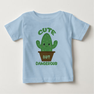 Camiseta Para Bebê - Cacto de Kawaii - engraçado bonito mas perigoso