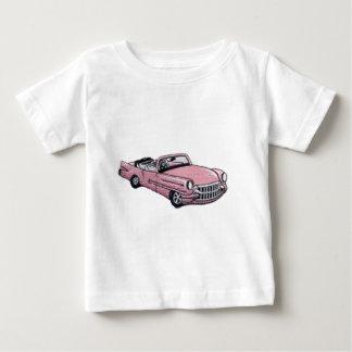 Camiseta Para Bebê Cadillac cor-de-rosa