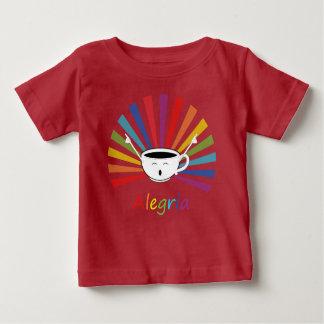 Camiseta Para Bebê Café com sentimentos