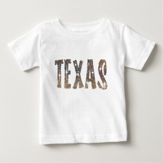 Camiseta Para Bebê Café e estrelas de Texas